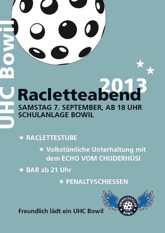 Raclette Abend 2013